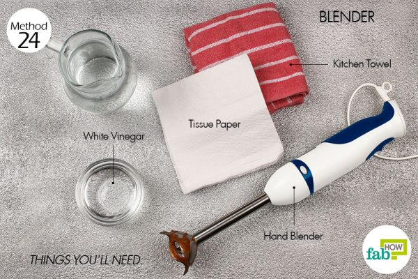 Things needed to clean hand blender