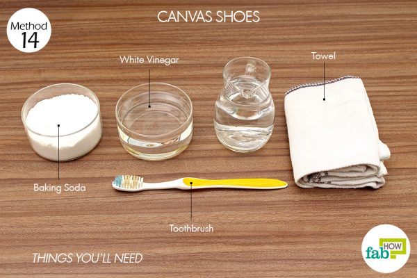 Things needed to clean your canvas shoes