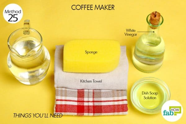 Things needed to clean coffee maker