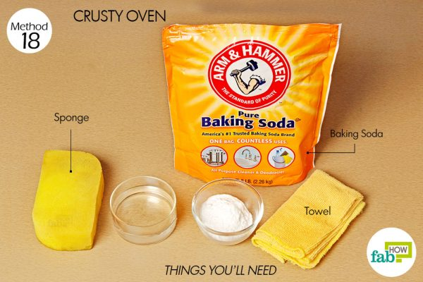 Things needed to clean your crusty oven