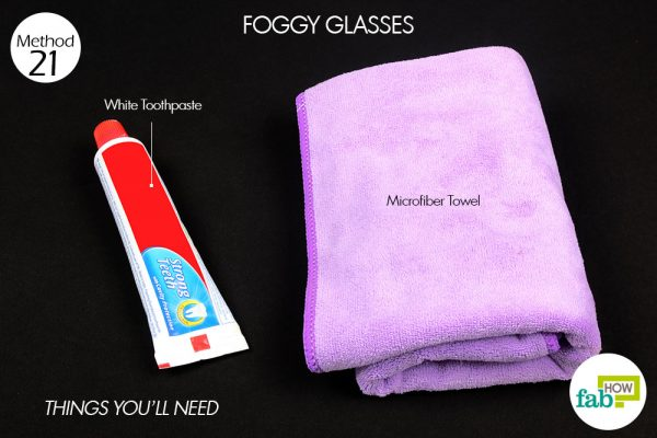 Things needed to clean your foggy glasses