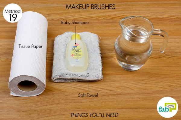 Things needed to clean your makeup brushes