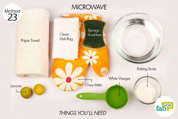 Things needed to clean your microwave