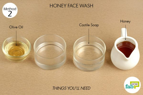 Things needed to make DIY Honey Face Wash