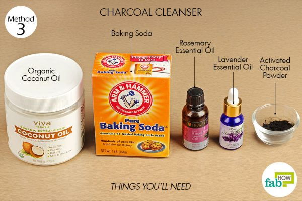 Things needed to make DIY Charcoal Cleanser