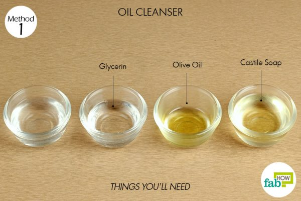 Things needed to make DIY Oil Cleanser