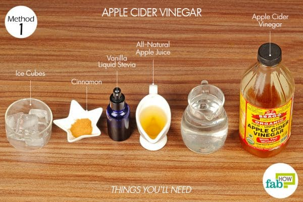 things you'll need to use apple cider vinegar to reverse diabetes