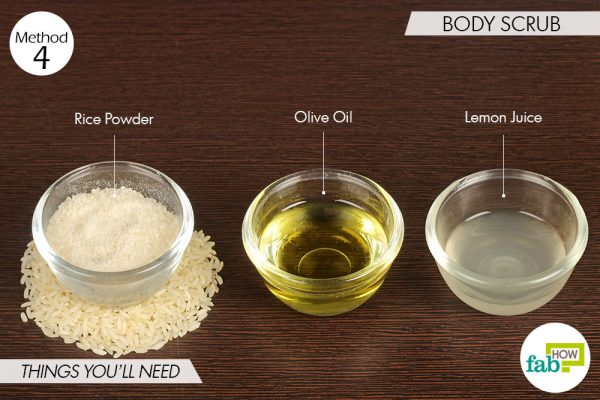 things you'll need to make body scrub to use rice water for skin and hair