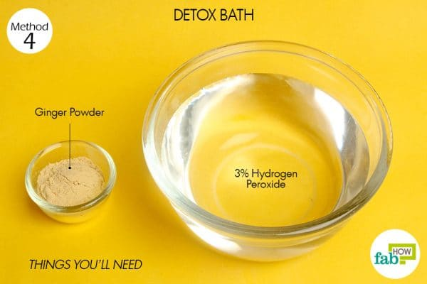 things you'll need to use hydrogen peroxide for detox bath