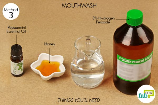 thins you'll need to use hydrogen peroxide as mouthwash