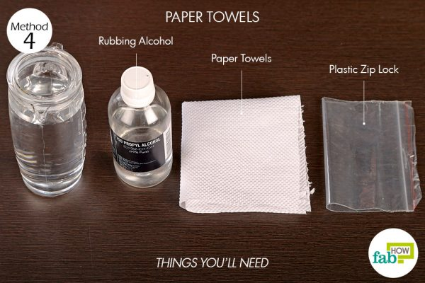 things you'll need to use paper towel to make a cold compress