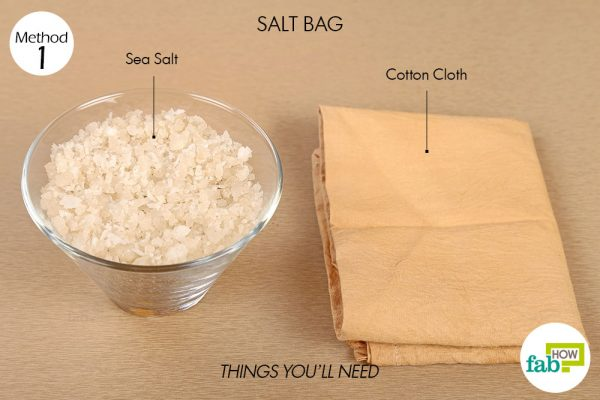 Use sea salt to make warm compress