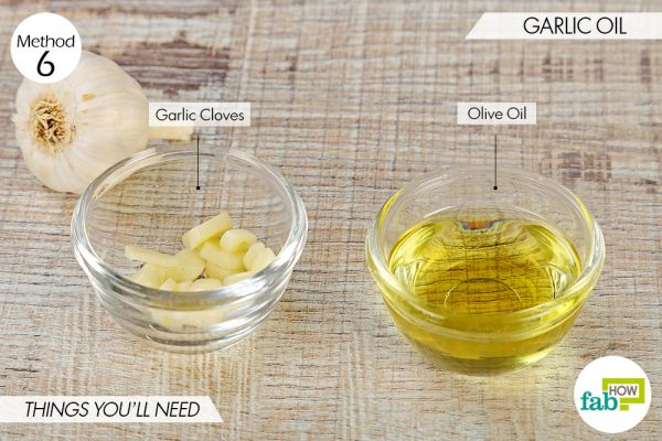 Things needed to get rid of swimmer's ear using garlic oil