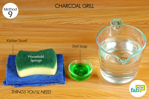 Things needed to clean charcoal grill
