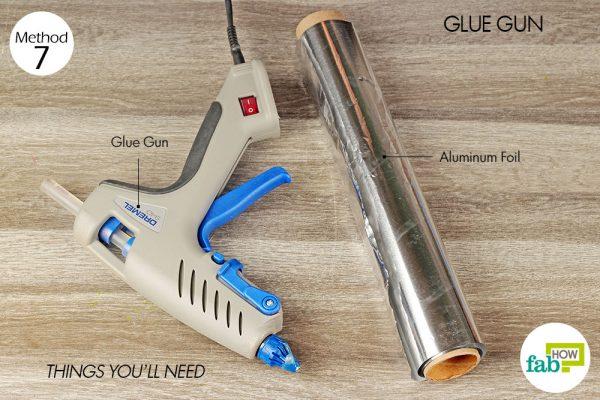 Things needed to clean hot glue gun
