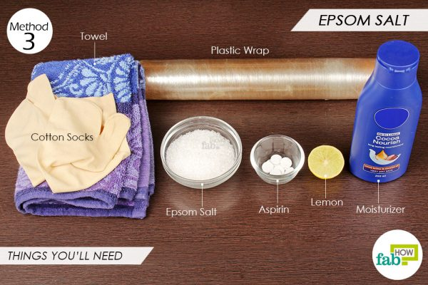 things you'll need to use epsom salt to remove dead skin from feet