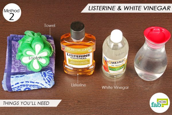 things you'll need to use vinegar and Listerine to remove dead skin from feet