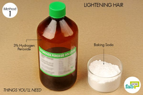 things you'll need to use hydrogen peroxide to lighten hair