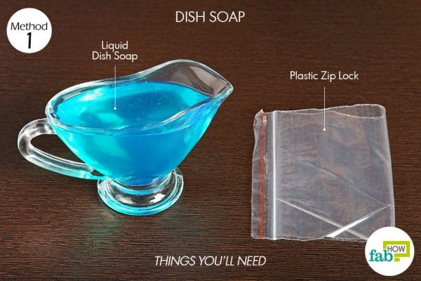 things you'll need to use dish soap to make a cold compress