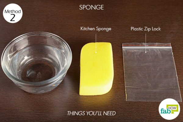 things you'll need to use sponge to make a cold compress