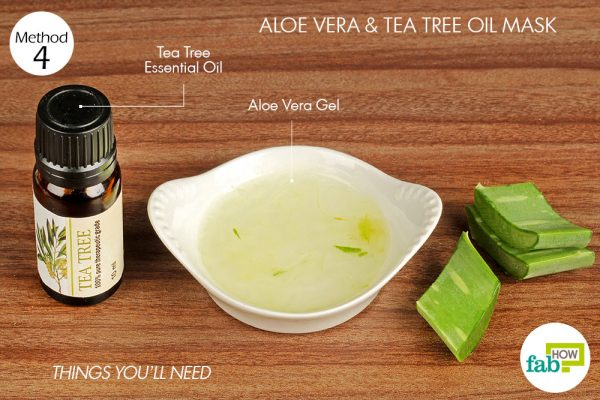 things you'll need to use aloe vera to make face mask for acne