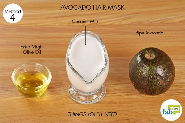 things you'll need to use avocado to make hair mask for frizzy hair