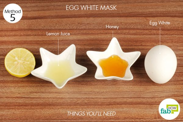 things you'll need to use egg white to make face mask for acne
