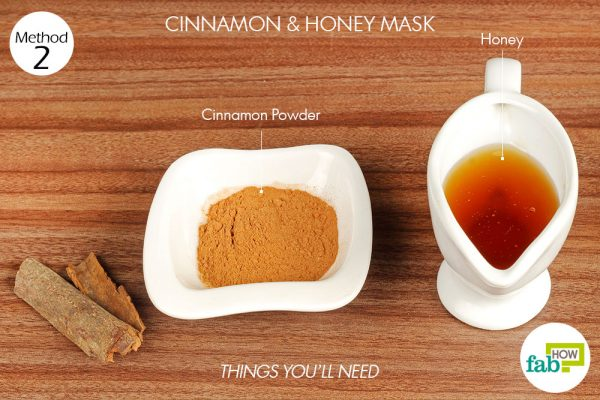 things you'll need to use cinnamon to make face mask for acne