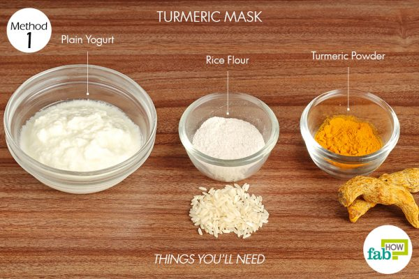 things you'll need to use turmeric to make face mask for acne