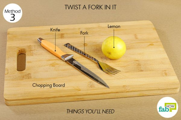 Things you'll need to squeeze more juice out of a lemon with a fork
