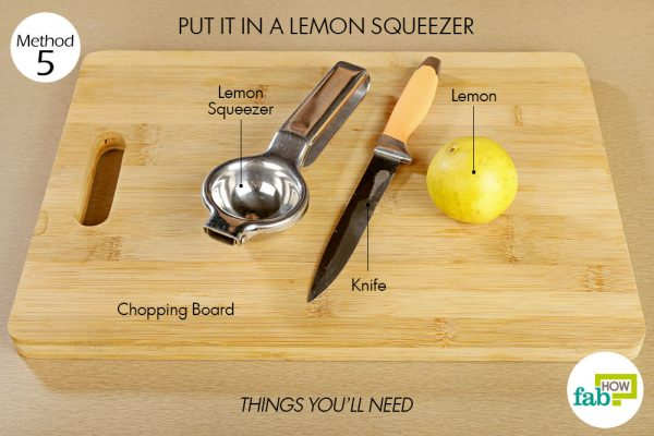 Things you'll need to squeeze more juice out of a lemon with a lemon squeezer