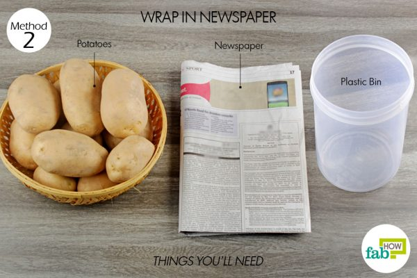 things you'll need to store potatoes in newspaper