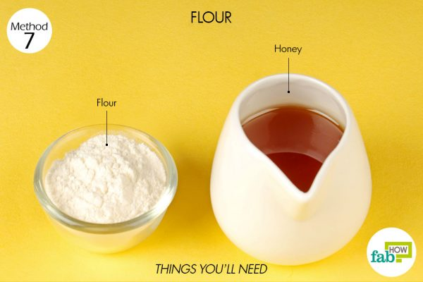 things you'll need to use flour to treat minor burns