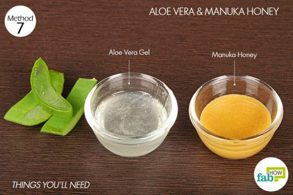 things you'll need to use aloe vera and manuka honey to get rid of rosacea