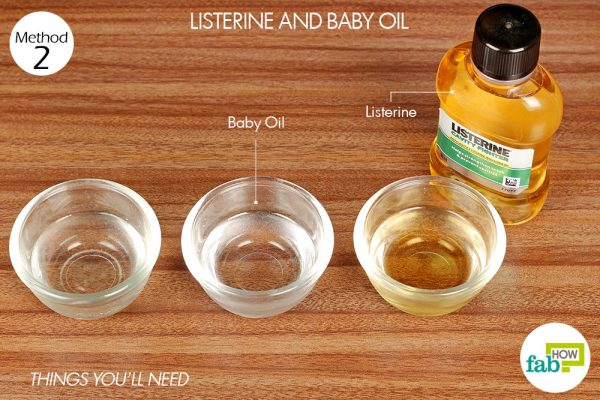 things you'll need to use listerine and baby oil to get rid of mange in dogs