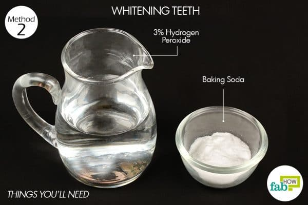 things you'll need to use hydrogen peroxide to whiten teeth