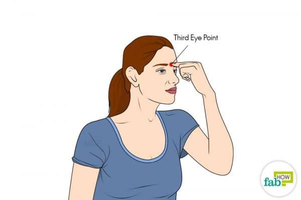 Use the Third Eye acupressure point