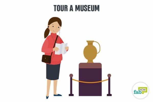 tour a museum to enjoy yourself alone