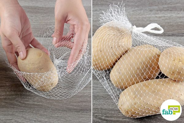 store potatoes in mesh bags