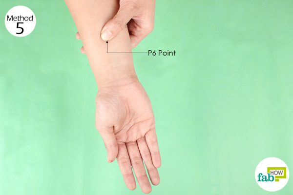 Apply pressure on the P 6 point to get relief from vertigo