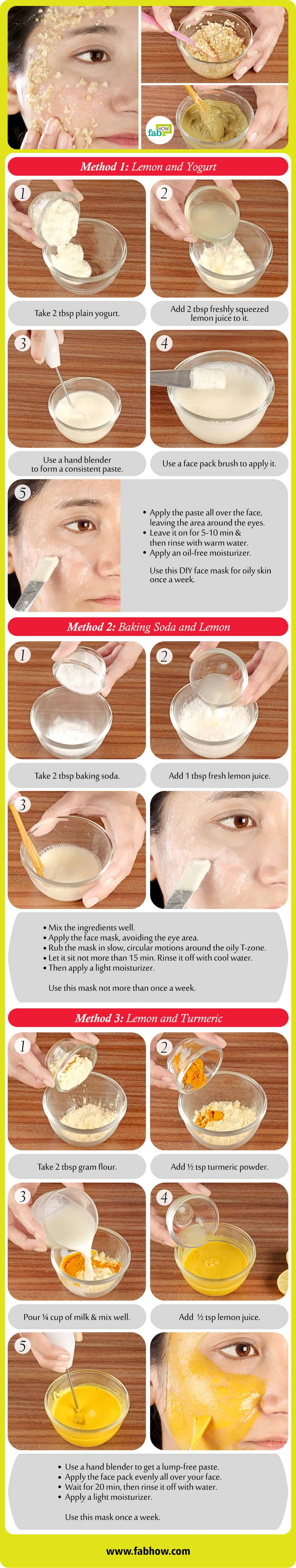 12 Best Diy Face Masks For Oily Skin Control Oil Secretion Fab How Sensi Masker Mask Download This Infographic