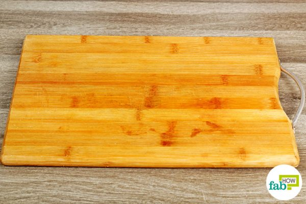 Your old cutting board is now free of stains and odor