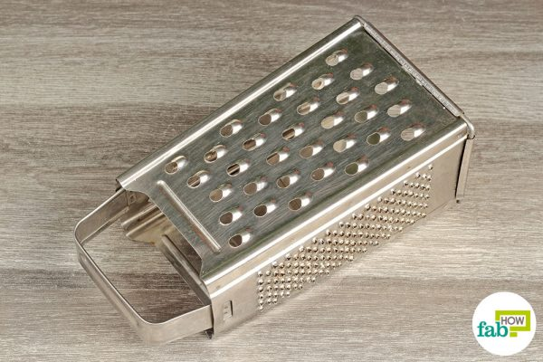 Your cheese grater is now spotless and free of any stuck-on residues