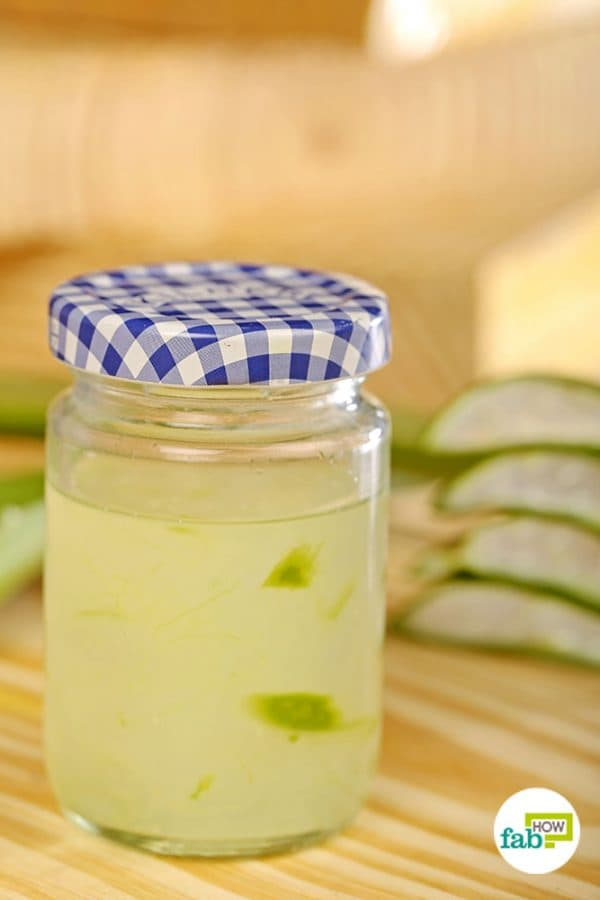 Store and use your very own homemade aloe vera gel
