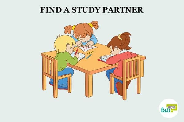 find a study partner to concentrate on studies