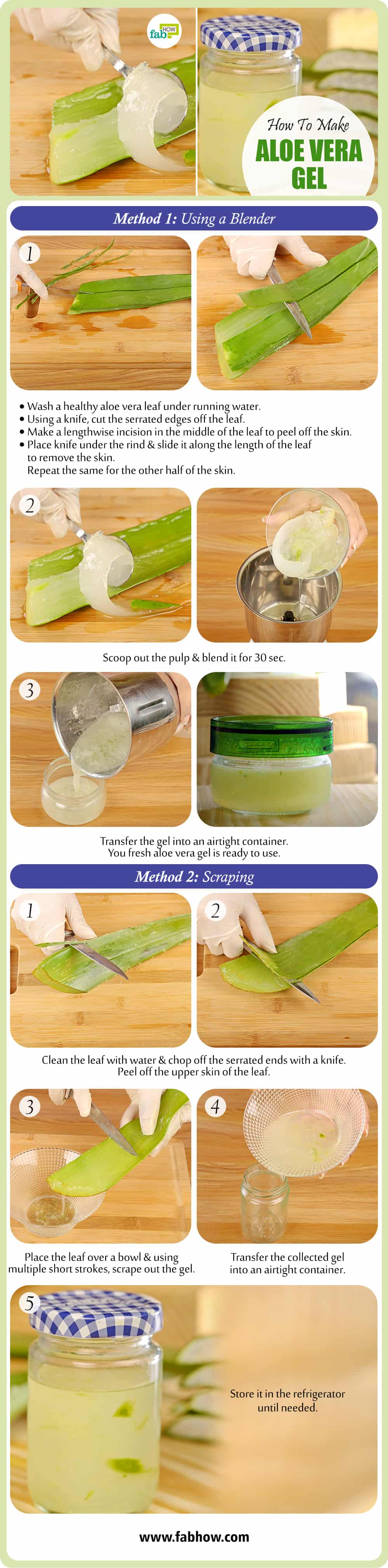 how to make aloe vera gel summary