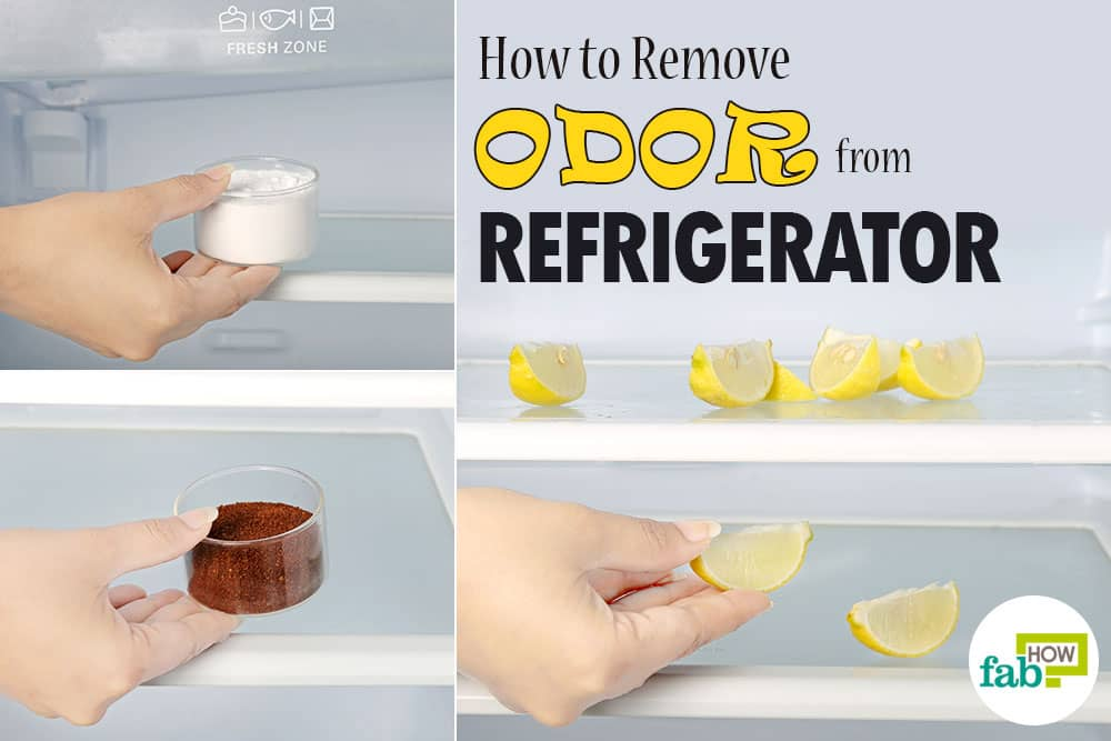 how to remove odor from refrigerator using just 1