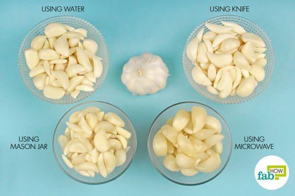 Ways to peel garlic quickly
