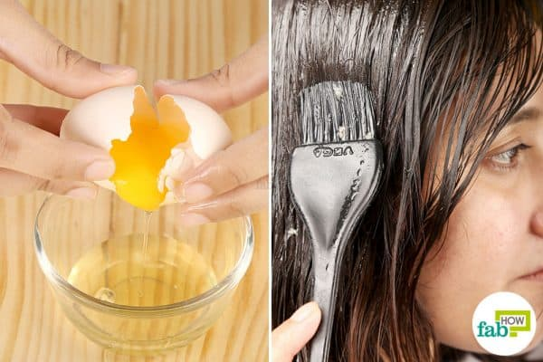 DIY egg masks for hair