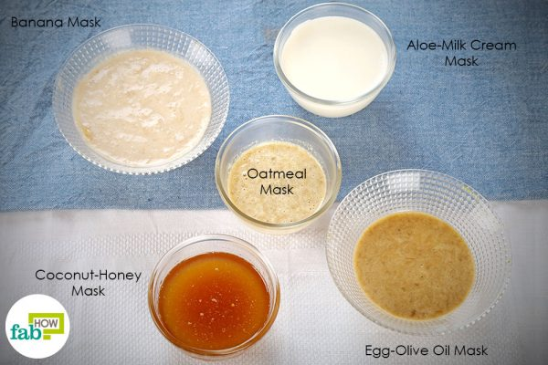 DIY face masks for dry skin
